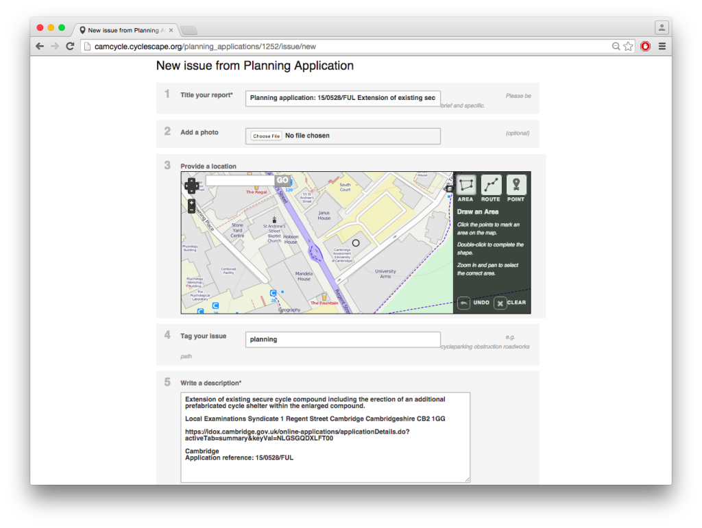 Cloned planning application